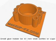 Glue holder for small cups or bottles. Free 3D download