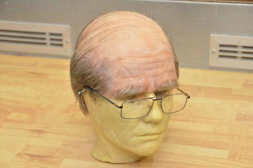 Theatrical bald head, silicone