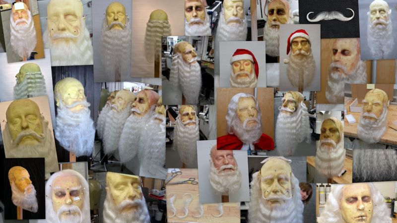 Santa beards and hair