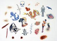 Tattoo transfers, sample kit